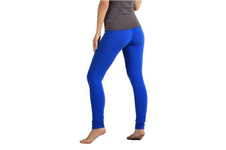 (Small/Medium (0 - 12), Royal Blue) - Premium Ultra Soft High Waist Leggings - Regular and Plus Size - Colours