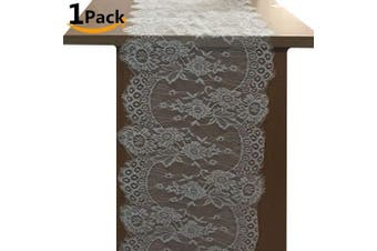 (8 Style 36cm  x 300cm  White lace) - OZXCHIXU 1 Packs, 36cm x 300cm White Classy Lace Table Runner/Overlay, Spring Summer Decor Rustic Chic Wedding Reception Table Decor, Table Runner, Boho Party Decoration, Bridal Shower Decor