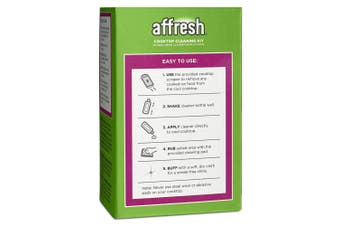(Cooktop Cleaner) - Affresh W11042470 Cleaning Kit (Cooktop Cleaner, Scraper and Scrub Pads)