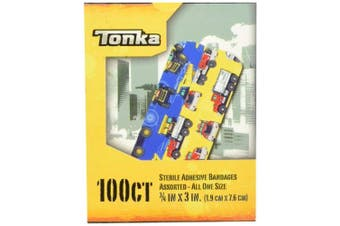 Tonka Truck 100CT Sterile Adhesive Bandages - 1.9cm x 7.6cm