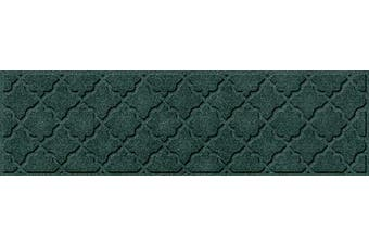 (Stair Treads, 22cm  x 80cm , Evergreen) - Bungalow Flooring Waterhog Stair Treads, Set of 4, 20cm - 1.3cm x 80cm , Skid Resistant, Easy to Clean, Catches Water and Debris, Cordova Collection, Evergreen