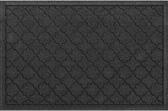 (Standard Doormat, 0.6m x 0.9m, Charcoal) - Bungalow Flooring Waterhog Indoor/Outdoor Doormat, 0.6m x 0.9m, Made in USA, Skid Resistant, Easy to Clean, Catches Water and Debris, Cordova Collection, Charcoal