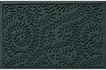 (Standard Doormat, 0.6m x 0.9m, Evergreen) - Bungalow Flooring Waterhog, 0.6m x 0.9m Durable and Decorative Floor Covering, Made in USA, Skid Resistant, Indoor/Outdoor, Water-Trapping, Boxwood Collection, Evergreen