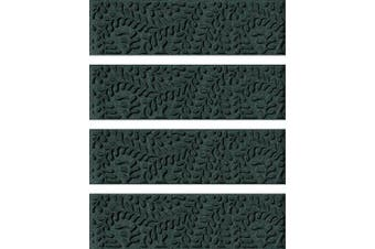 (Stair Treads, 22cm  x 80cm , Evergreen) - Bungalow Flooring Waterhog Stair Treads, Set of 4, 22cm x 80cm , Durable and Decorative Floor Covering, Made in USA, Indoor/Outdoor, Water-Trapping, Boxwood Collection, Evergreen