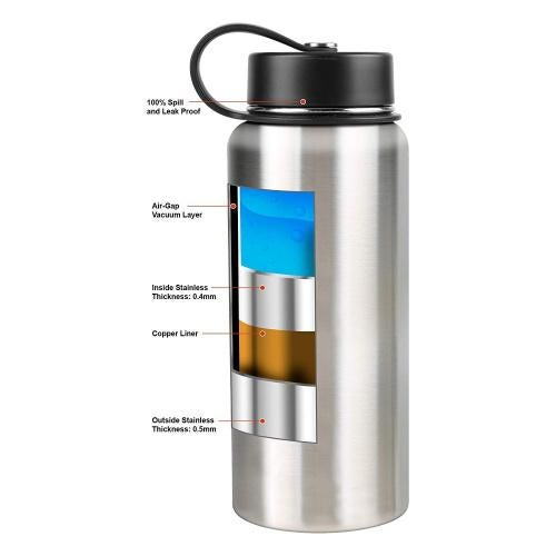 Tahoe Trails Double Wall Vacuum Insulated Stainless Steel Water Bottle
