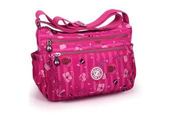 (2-pink Purple) - ABLE Women Anti Splash Water Shoulder Messenger Crossbody Bags