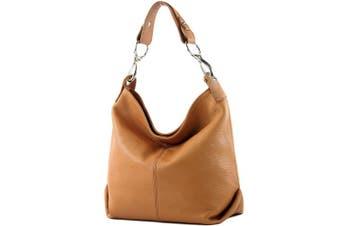 (Camel) - modamoda de - ital. Leather bag Shoulder bag Ladies bag Shoulder bag Leather T168