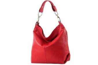 (Red) - modamoda de - ital. Leather bag Shoulder bag Ladies bag Shoulder bag Leather T168
