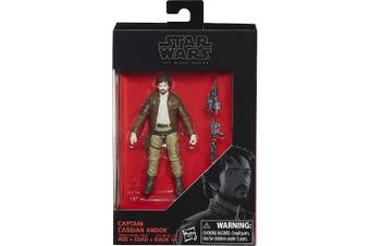 Star Wars 2017 The Black Series Captain Cassian Andor (Rogue One) Exclusive Action Figure, 9.5cm