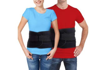 (LARGE) - Back Brace for Lower Back Pain – Comfortable Lumbar Support Belt for Weight Lifting and Low Spine Stabiliser for Sciatica Nerve Relief or Scoliosis. Compression for Bulging or Herniated Disc (LARGE)