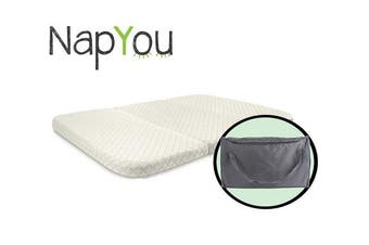 NapYou Pack n Play Mattress, Convenient Fold with Bonus Easy Handle Carry Bag