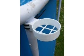 Swimming POOL CUP HOLDER : WHITE 35mm INTEX FRAME LEG