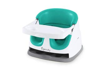 (Ultramarine Green) - Ingenuity Baby Base 2-in-1 Seat - Ultramarine Green - Booster Feeding Seat
