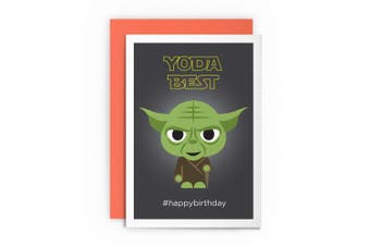 Birthday Card Star Wars Funny Yoda – YODA BEST! #HAPPYBIRTHDAY – Card Greeting Card For Him For Men Friends Joke Cardshit Best Card Shit