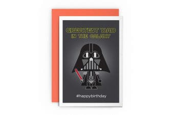 Birthday Card Star Wars Funny Darth Vader - GREATEST DAD IN THE GALAXY #HAPPYBIRTHDAY - Card Greeting Card For Him Friends Joke Cardshit Best Card Shit