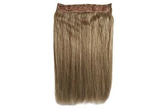 (50cm  140g, 18#) - One Piece 5 Clips Quad Weft Clip in Remy Human Hair Extensions Silky Straight 3/4 Full Head Clip on Hair (50cm 140g, 18#)