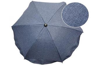 (Jeans navy) - Baby Parasol Sun Umbrella PRAM Pushchair Buggy Protect from Sun/RAIN Canopy (Jeans Navy)