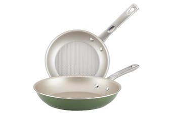 Ayesha Curry 10381 Home Collection Skillet Set, 2Piece, Basil Green