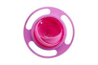 (Rose) - BUYITNOW Baby Gyro Bowl 360 Dgree Rotation Gyroscope Tableware Spill-proof Bowl for Kids Toddlers