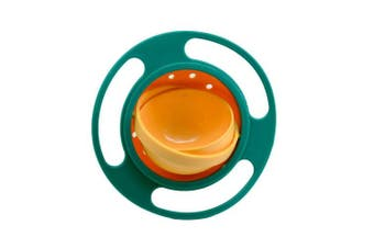 (Green) - BUYITNOW Baby Gyro Bowl 360 Dgree Rotation Gyroscope Tableware Spill-proof Bowl for Kids Toddlers