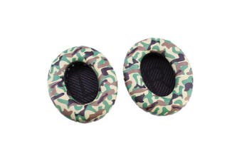 (QC35 Camo Earpads) - Bingle Ear Cushions Spare Replacement Ear Pads for Bose Headphones Quiet Comfort 35 QC35 with Memory Foam Protein Leather (1Pair Camo Green)