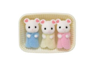 (Marshmallow Mouse Triplets) - Calico Critters Marshmallow Mouse Triplets
