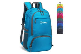 (Light Blue) - ZOMAKE 30L Lightweight Packable Backpack Water Resistant Hiking Daypack,Small Travel Backpack Foldable Camping Outdoor Bag