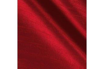 Angus International Dupioni Silk Fabric, Red
