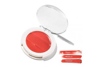 (Blazen) - 3-in-1 Lip + Cheek Cream. Coconut Extract for Radiant, Dewy, Natural Glow - UNDONE BEAUTY Lip to Cheek Palette. Blushing, Highlighting & Tinting. Sheer to Opaque Colour. Vegan & Cruelty Free. BLAZEN