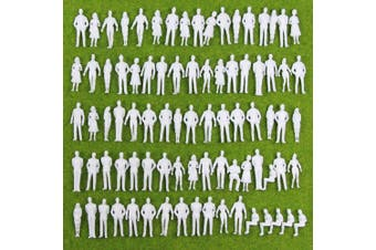 Evemodel 100pcs Model Trains 1:50 Scale WHITE Figures O 35mm