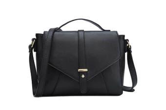 (Black) - Medium Sized Crossbody Purse for Women Designer Shoulder Bags Ladies Handbags