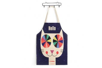 (Cat) - Phantomon Cute Cat Japanese Style Lovely Apron Funny Cotton Woman Apron Kitchen Apron Bib Chef Kitchen Apron Cooking Apron Unique Design Pattern Cat Print Unisex Baking Apron