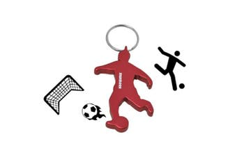 (Footbale Player) - Acecamp Munkees Keychain Bottle openers 5pcs Beer openers Can Openers Pocket Colourful Sports Key Chain Ring