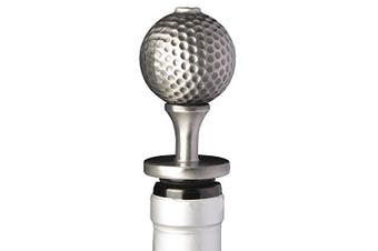 (GolfBall) - Stainless Steel Golf Ball Wine Aerator Pourer - Deluxe Decanter Spout for Robust Red and White Wine - Pour Amore Bottle Pourer/Stopper & Air Diffuser by Chris's Stuff