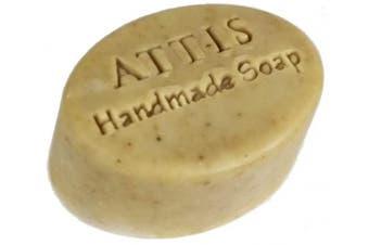 ATTIS Handmade Goat's Milk and Rose Conditioning Shampoo Bar | with Rose Geranium Essential Oil | Silk | Aloe Vera | Sulphate Free | For Men & Women