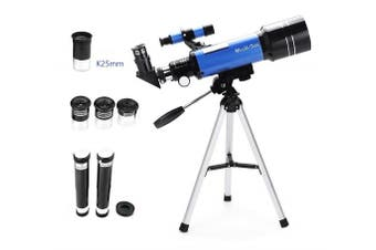 70mm Refractor Telescope with Tripod & Finder Scope, Portable Telescope for Kids & Astronomy Beginners, Travel Scope with 3 Magnification eyepieces & Moon mirror