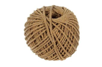 (Tan) - Craft County 100 Metre Skein of 4mm Diameter Crafting Cotton Rope in Black, Grey, Ivory, Light Pink, Tan