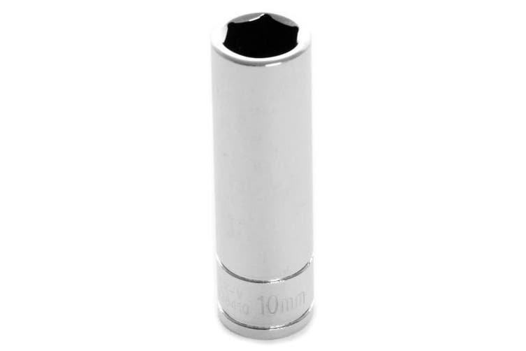 "(1/4"" Drive 6-Point Socket, 10mm) - Performance Tool W36410 1/4 Dr 10mm 6Point DW Socket, 1 Pack"