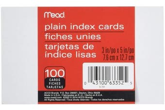 (6) - Mead #63352 100CT 3x5 Index Card