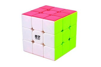 BestCube Qiyi 3x3 Warrior W 3x3x3 Speed Cube Stickerless Puzzle Cube,56mm