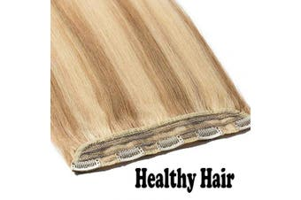 (50cm  - 50g, #18/613 Ash Blonde/Bleach Blonde) - One Piece Clip in Real Remy Human Hair Extensions Long Straight 3/4 Full Head, 50cm -50g #18/613 Ash Blonde/Bleach Blonde