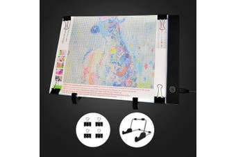 (A4+stand) - Mlife Diamond Painting A4 LED Light Pad - Dimmable Light Board Kit, Apply to Full Drill & Partial Drill 5D Diamond Painting with Detachable Stand and Clips