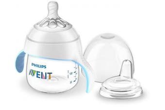 (Clear) - Philips Avent My Natural Trainer Sippy Cup, Clear, 150ml, 1pk, SCF262/03