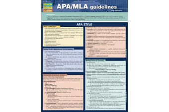 APA/MLA Guidelines for Students (Quick Study: Academic)