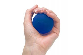 (Extra Large, Blue - Firm) - TheraBand Hand Exerciser, Stress Ball For Hand, Wrist, Finger, Forearm, Grip Strengthening & Therapy, Squeeze Ball to Increase Hand Flexibility & Relieve Joint Pain