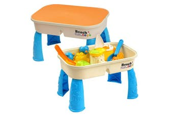 Sand & Water Table with Lid - Includes 8 Beach Toys & Space for Sand & Water - Perfect for Hours of Fun