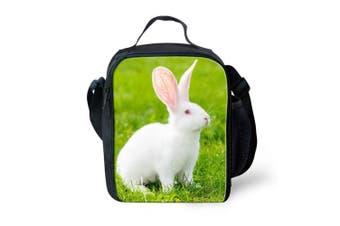 (Rabbit 2) - Showudesigns Reusable Lunch Bag for Children Outdoor Picnic Lunchbox Rabbit Print Green