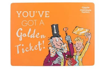 """(CHARLIE AND THE CHOCOLATE FACTORY, Placemat) - Roald Dahl CHARLIE AND THE CHOCOLATE FACTORY Heat-Resistant Cork-Backed Printed Placemat, 30 x 23 cm (12"""" x 9"""") - Orange"""