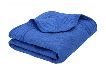 (Royal Blue) - Lightweight All Weather Embossed Detail Soft Quilt for Baby and Toddler, Royal