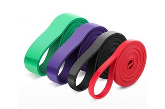 (Set-4) - Leekey Resistance Band Set, Exercise Bands Workout Bands - Stretch Resistance Band - Mobility Band - Powerlifting Bands - For Resistance Training, Physical Therapy, Home Workouts - SINGLE BAND or SET